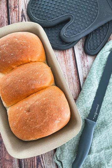 nes Wuttke kocht mit Pampered Chef Dinkel Butter Toast aus dem Zauberkasten